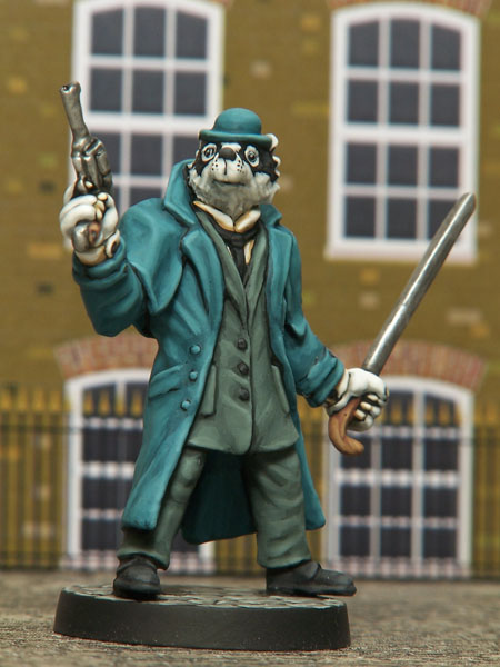 Inspector LeBrock, sculpted by Jo Brumby, painted by Kevin Dallimore