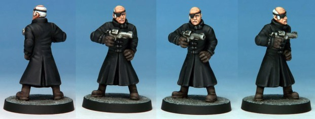 Grandvillain conversion by Kevin Dallimore. Military Man head supplied by Crooked Dice.