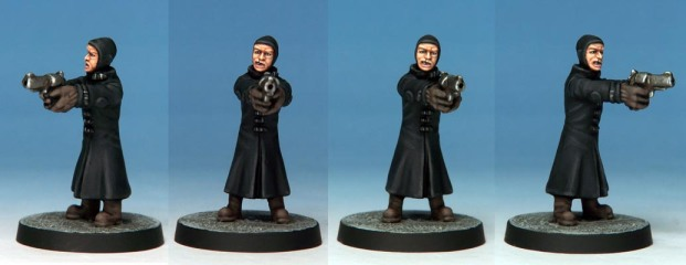 Grandvillain conversion by Kevin Dallimore. Balaclava head supplied by Crooked Dice.